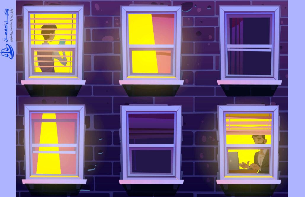 قوانین زندگی در ساختمان های بزرگ - دعاوی زندگی در ساختمان